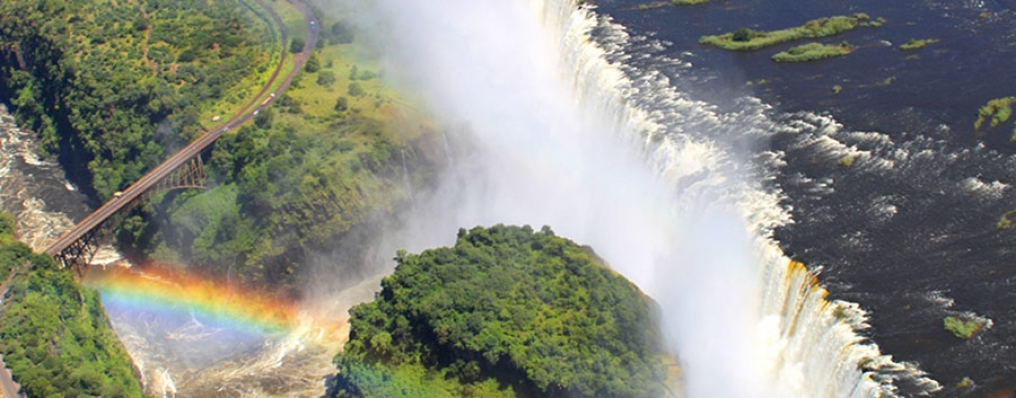 Helicopter Flight over Victoria Falls, Zimbabawe